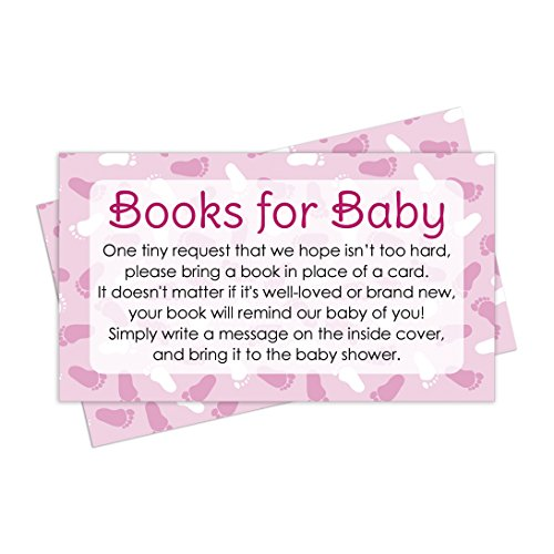 Books for Baby Shower Request Cards – Pink Girl Theme (Set of 20)