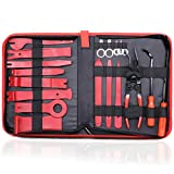 GLK Car Trim Removal Tool Door Panel Removal Tool for Car Radio Clips Window Molding Upholstery Marine Fastener Removal and Installation with Storage Bag Nylon Pry Tool 19PCS(red)
