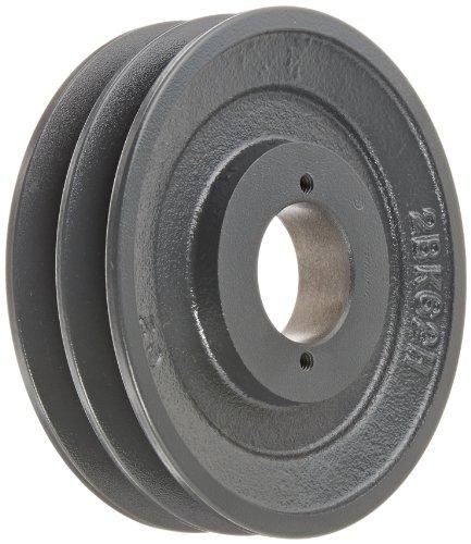 Browning 2BK62H Bushed Classical Gripbelt Sheave, 4L or A, 5L or B Belt, 2 Grooves, Uses H Bushing -