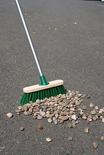 11.5' Sweeping Brush Heavy Duty Stiff Outdoor Yard Broom & Metal Handle The Dustpan and Brush Store