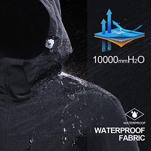 CAMEL CROWN Women's 3-in-1 Waterproof Ski Snow Jacket Hooded Winter Coat with Puffer Liner