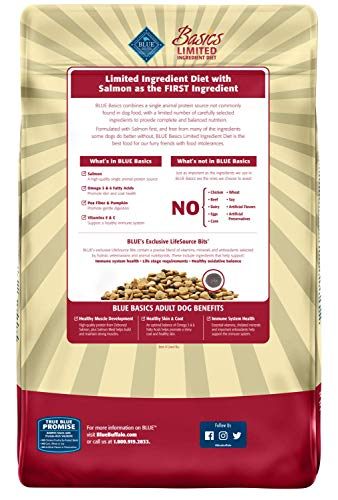 Blue Buffalo Basics Limited Ingredient Diet, Natural Adult Dry Dog Food, Salmon & Potato 24-lb