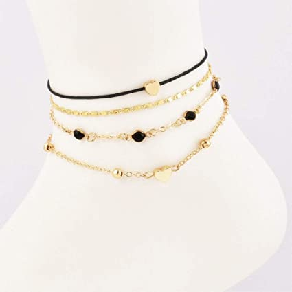 Fine Anklets Anklet Ankle Bracelet Gold Plated Pendant Of Your Choice