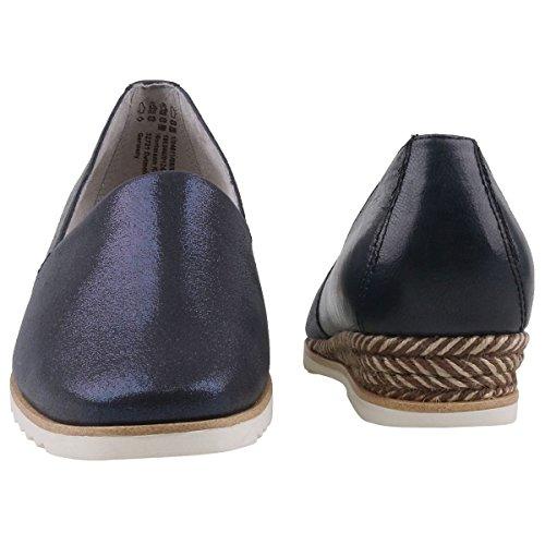 Women's Loafer Comb Blue 1 1 24611 Navy Flats 28 890 Blau 890 Tamaris axq6dHWq