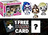 Giltter DJ Pon3, Whooves and Derpy: Funko POP! x My Little Pony Vinyl Figure Gift Set + 1 FREE Official My Little Pony Trading Card Bundle [37659]