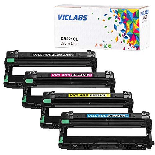 V&G DR221CL Drum Unit Set Works with Brother TN221BK TN225C TN225M TN225Y Toner Replacement for Brother DR-221cl Drum, for use in: Brother HL-3170CDW MFC-9340CDW MFC-9130CW MFC-9330CDW HL-3140CW
