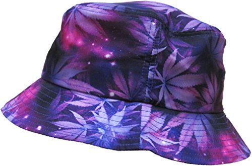 KBETHOS Galaxy Bucket Hat, One Size (Medium to Large), (Leaf Galaxy) Purple (Best Way To Collect Leaves)
