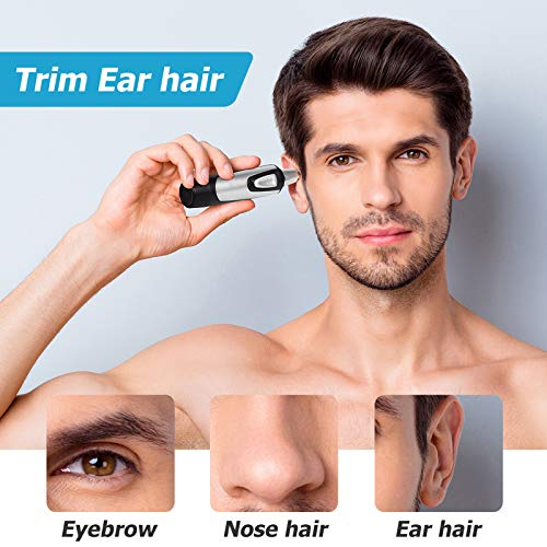 Nose and Ear Hair Trimmer for Men Portable Electric Nose Trimmer IPX7 Waterproof Stainless Blades Suitable for All Purposes