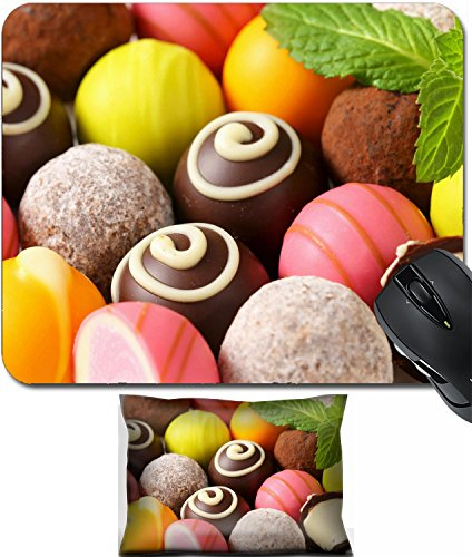 - MSD Mouse Wrist Rest and Small Mousepad Set, 2pc Wrist Support design: 28592451 Assorted chocolate truffles and fruit ganache pralines