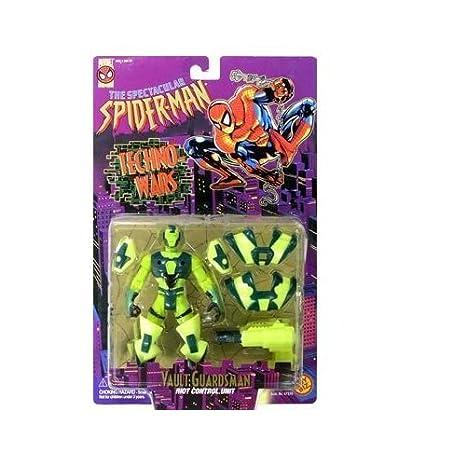 Amazon.com: SPIDER-MAN TECHNO-WARS:VAULT GUARDSMAN ACTION ...