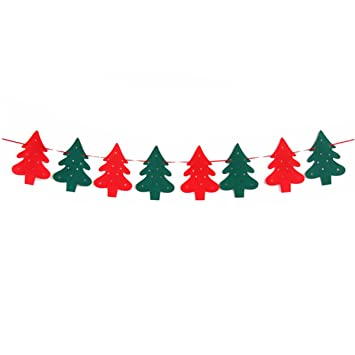 cosmer diy merry christmas hanging bunting sign garland banner string party flag home office holiday decoration
