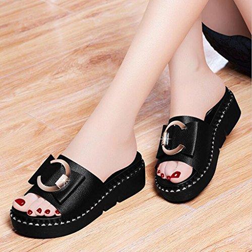 Spiaggia Drag Fashion Black Piatto Spesso Flop Fondo Butterfly Infradito Shoes Summer E Donna Flip Xy Cool Ciabatte Lounger Abbigliamento Esterno Da Knot xIqSwPw1