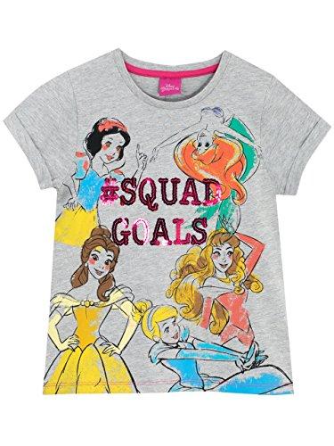 Disney Princess Girls' Snow White Belle Cinderella Aurora Ariel T-Shirt Size 7 -