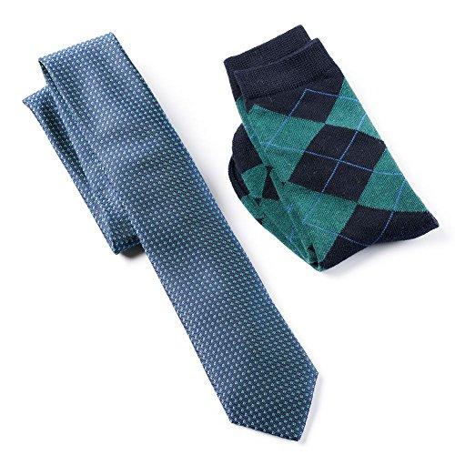 Wembley Tie and Socks Set (Navy/Green)