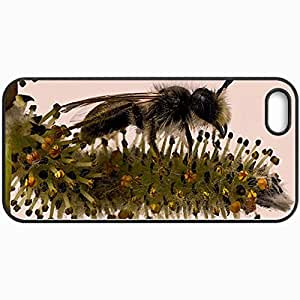 Personalized Protective Hardshell Back Hardcover For iPhone 5/5S, Bee Design In Black Case Color