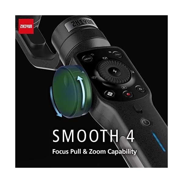 Zhiyun Smooth 4 3-assi stabilizzatore di cardano compatibile, Vertigo Shoot Focus Phonego Mode Focus Pull & Zoom… 7 spesavip