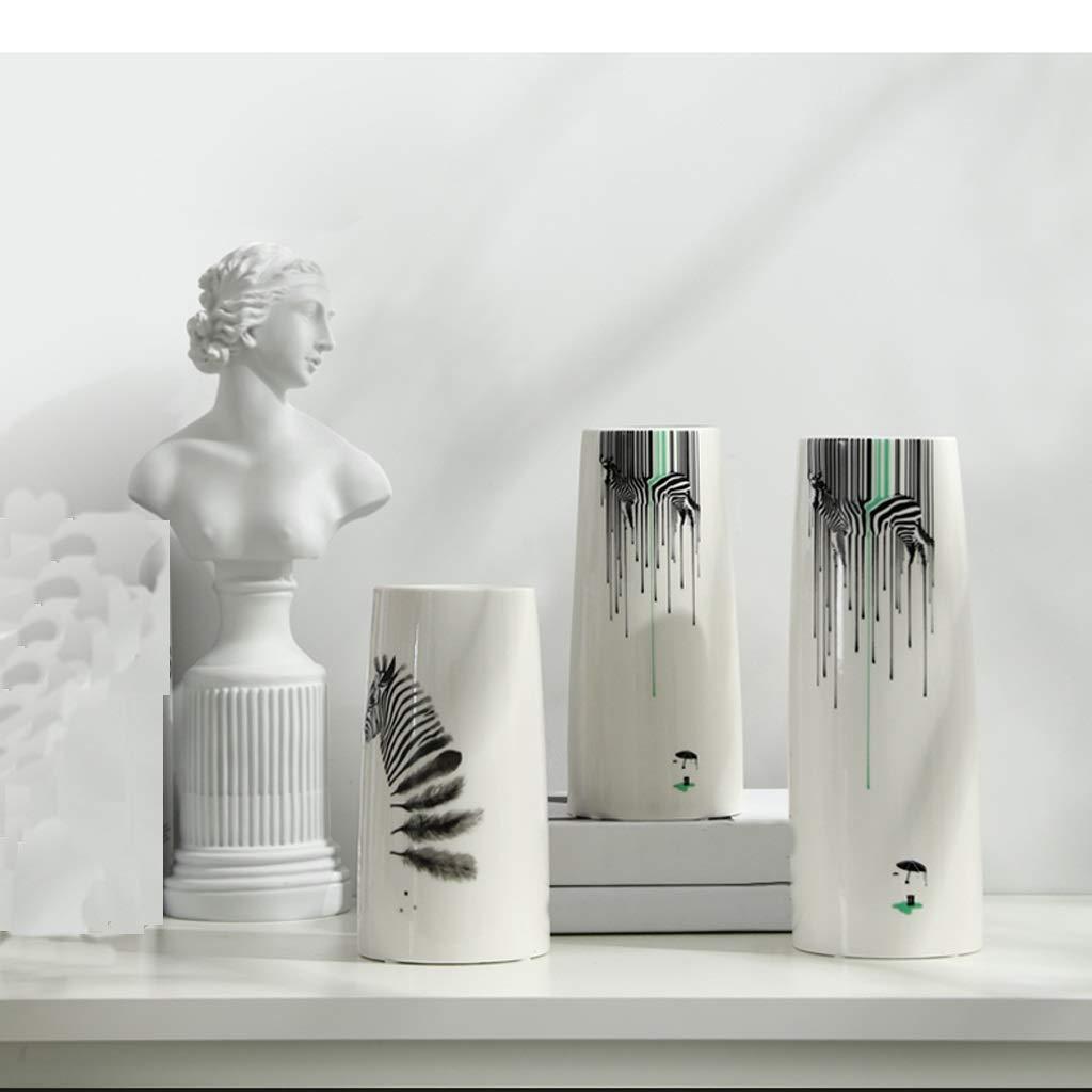 花瓶シンプルなセラミックホームアクセサリーフラワーアレンジメントセラミック花瓶装飾オフィス装飾3ピース組み合わせ SHWSM B07S9WK7QQ