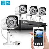 Zmodo Smart PoE 720P HD Security Camera System 4 x 720P Outdoor Night Vision Surveillance Camera No Hard Drive