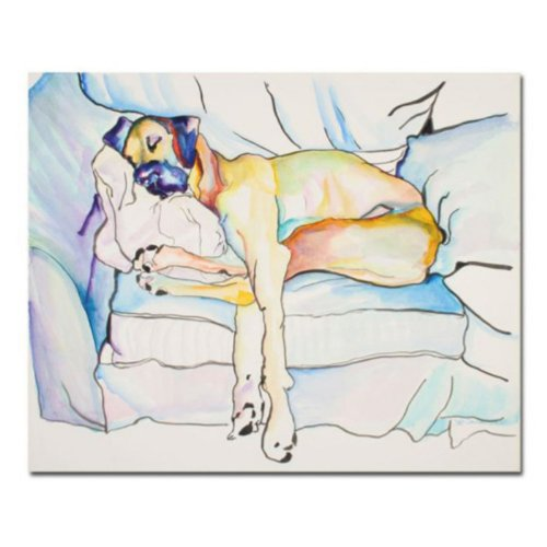 Sleeping Beauty by Pat Saunders-White,Canvas doggy Wall Art