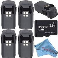 DJI Intelligent Flight Battery for Spark Quadcopter + 32GB microSDHC Card + Fibercloth Bundle