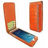 Piel Frama 761 Orange Swarovski Crocodile Classic Magnetic Leather Case for Apple iPhone 7 / 8