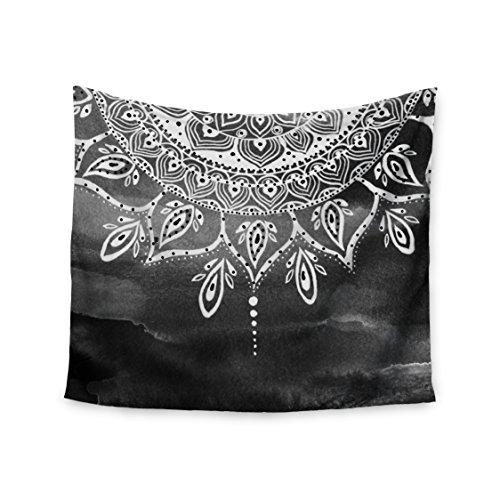 "KESS InHouse Li Zamperini ""Black & White Mandala"" Gray Abstr"