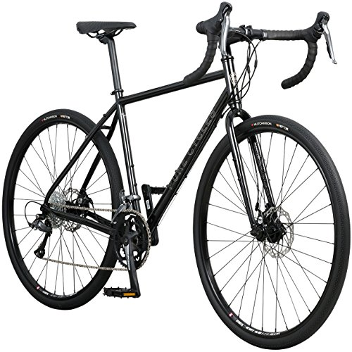 Pure Cycles Adventure Gravel 16-Speed Disc Road Bike, 57cm/X-Large, Carmichael Gloss Black Pure Fix Cycles, Inc.