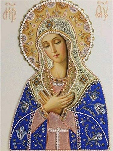5D DIY Holy Mary/&Jesus Christ Diamond Painting Religious Full Square//Round Drill