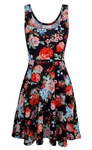 Dress s Printed 12 Women Dress Beach Sleeveless Casual CFD 07WqfUnBan
