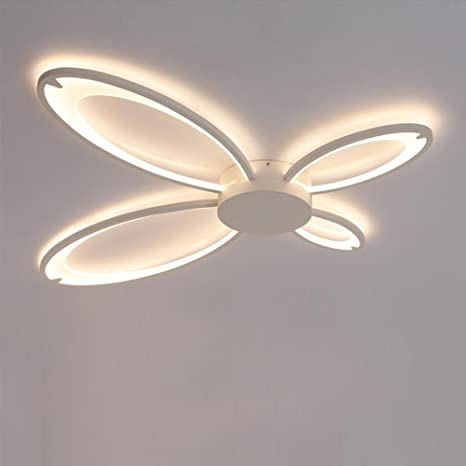 Plafón LED Modern Plafones Forma de mariposa diseño Lámpara de techo ...