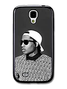 AMAF ? Accessories ASAP Rocky Black and White Portrait with Sunglasses case for Samsung Galaxy S4