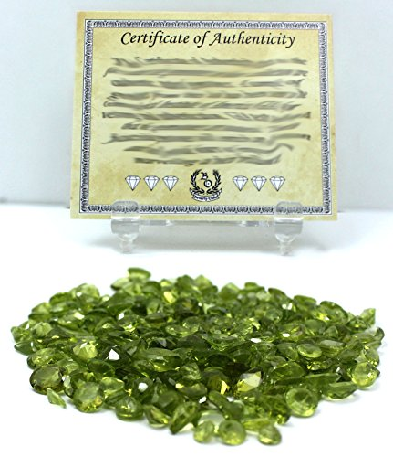 75 Carat Peridot Natural Loose Gemstones Wholesale Lot w/ Beverly Oaks LLC Exclusive Certificate of Authenticity - Emerald Jewelry Scale