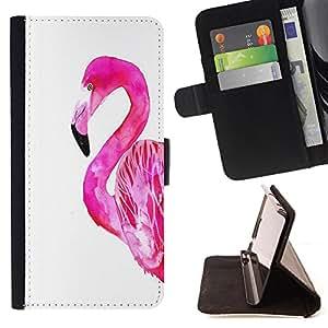 King Art - Premium-PU-Leder-Prima caja de la PU billetera de cuero con ranuras para tarjetas, efectivo Compartimiento desmontable y correa para la mu?eca FOR Sony Xperia Z2 L50t L50W L50U- Swan Cute