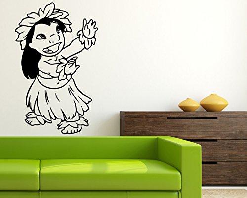 Aloha Baby Wall (Lilo ALOHA Wall Art Walt Disney Vinyl Sticker Lilo & Stitch Wall Vinyl Decal Decor for Home Baby Chids Kids Room Image las7)