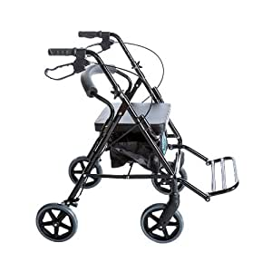 Amazon Com Combo Transport Rollator Chair W 8 Quot Wheels