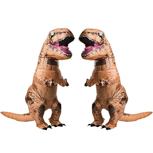 RUBIE'S COSTUME COMPANY Jurasic World T-Rex Adult Inflatable Costume 2 Pack Bundle Set