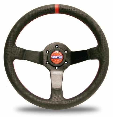 Sparco Products Leather - Sparco 015TCHMP Black Leather Champion Limited Edition Steering Wheel