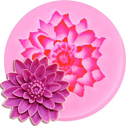 Drop Shipping Lotus Shape Chocolate Candy Jello 3D Silicone Mold Figre/Cake Tools Soap Mold Sugar Craft Cake Decoration H27270