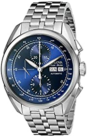 Bulova Men's 63C121 Analog Display Automatic Self Wind Silver Watch
