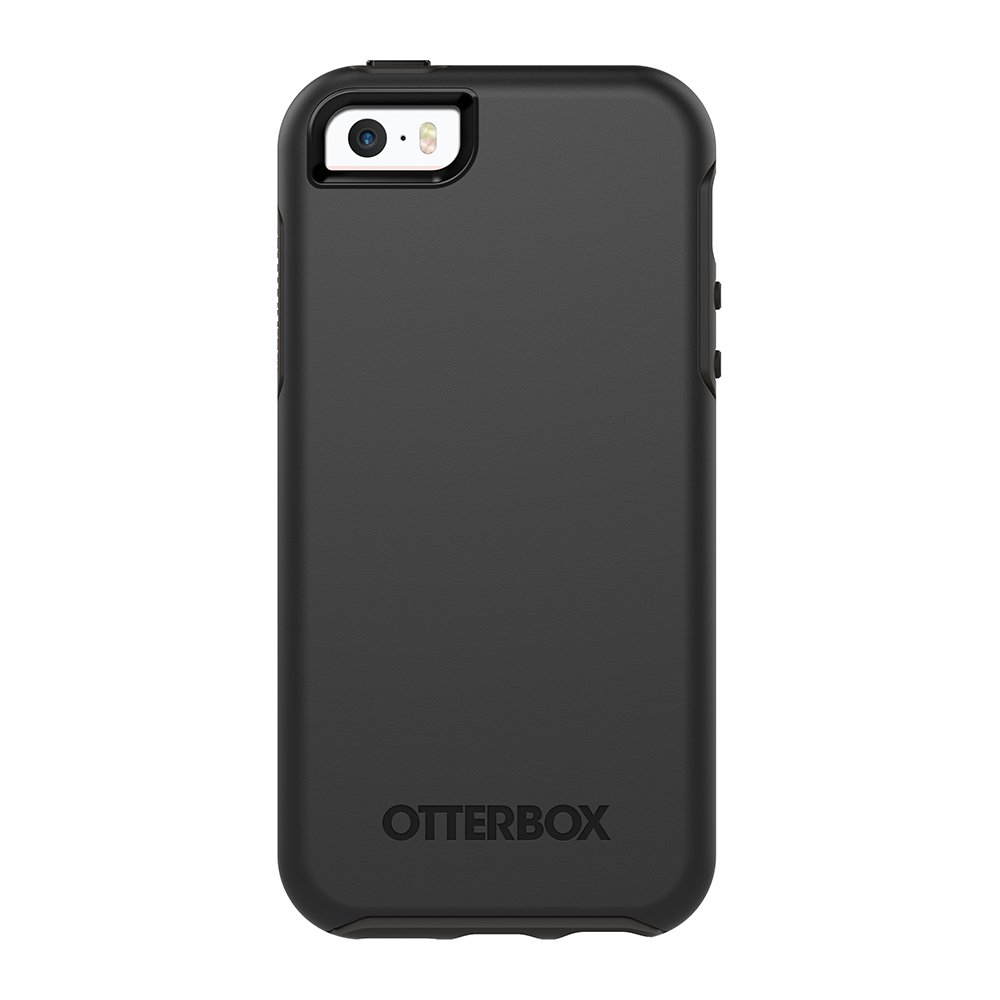 new style 3a7af dd7a2 OtterBox SYMMETRY SERIES for iPhone 5/5s/SE - Retail Packaging - BLACK