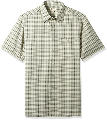 Haggar Men's Tall Short Sleeve Microfiber Woven Shirt, Eucalypt, 3X Big