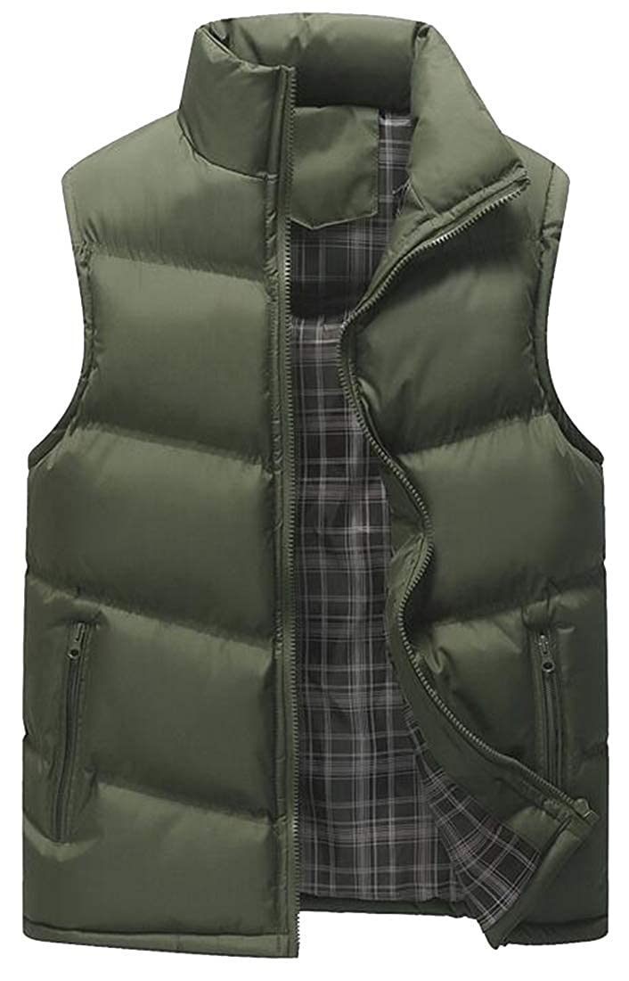 XTX Mens Casual Active Solid Color Warm Zip Front Fall /& Winter Down Quilted Vest Puffer Waistcoat Jacket