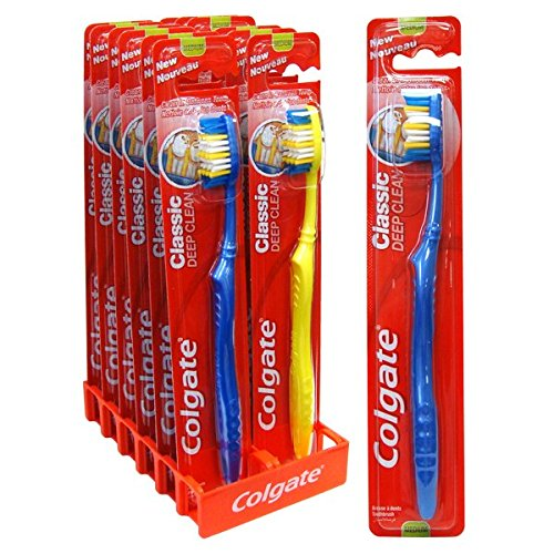 Colgate Classic Deep Clean Toothbrush, Medium (Display of 12)