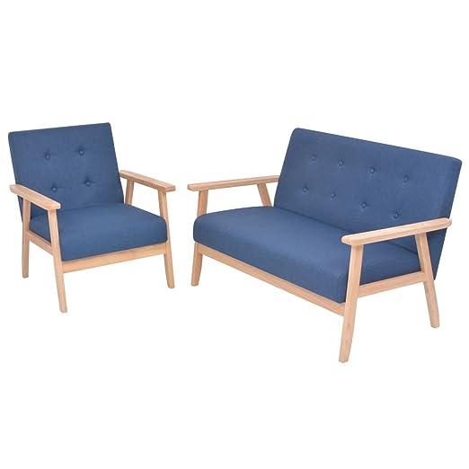 Xingshuoonline - Juego de 2 sofás de Tela Azul para Oficina ...