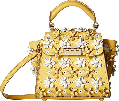 (ZAC Zac Posen Women's Eartha Mini Kit Top Handle Crossbody, Honey, Yellow, Floral, One Size)