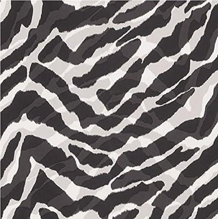Black white zebra print wallpaper