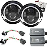 """Best Apex Hids - Eagle Lights 7"""" Round Jeep LED White Halo Review"""