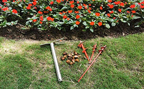 """Bulb Auger Drill Bit Planting 2 Pack 3/""""x9/""""/&1.6/""""x9/""""Garden Auger Spiral Hole Drill Planter Solid Carbon Steel Plant Auger Post Hole Digger for 3//8/"""" Hex Driver Drill by S/&F STEAD /& FAST"""