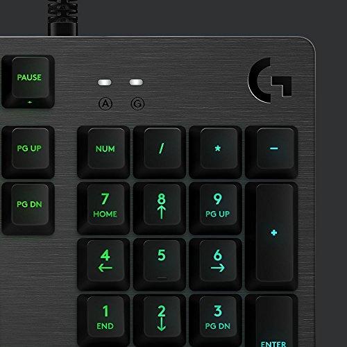 Logitech G513 - Teclado mecánico para Gaming con retroiluminación RGB e interruptores mecánicos Romer-G Lineal, Carbon - QWERTY Italiano: Amazon.es: ...
