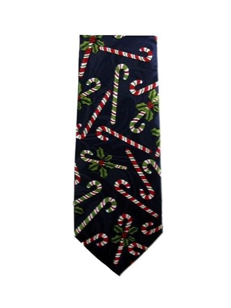 458da7636df Amazon.com  Candy Cane NeckTies Christmas Ties Mens Necktie  Clothing